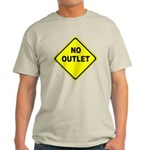 No Outlet Sign Light T-Shirt