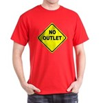 No Outlet Sign Dark T-Shirt