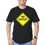 No Outlet Sign Men's Fitted T-Shirt (dark)
