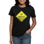No Outlet Sign Women's Dark T-Shirt