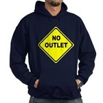 No Outlet Sign Hoodie (dark)