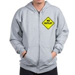 No Outlet Sign Zip Hoodie