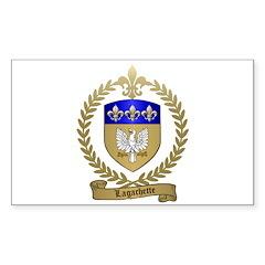 LAGACHETTE Family Crest Rectangle Decal