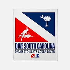Dive South Carolina Throw Blanket