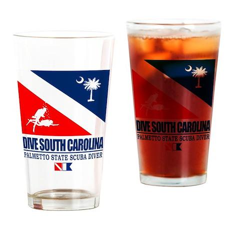 Dive South Carolina Drinking Glass