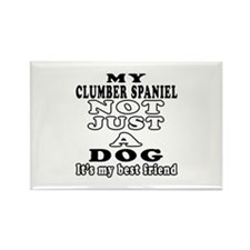 Clumber Spaniel not just a dog Rectangle Magnet