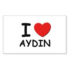 I love Aydin Rectangle Decal