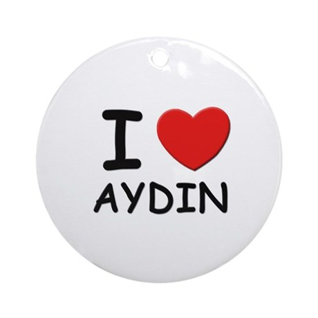 I love Aydin Ornament (Round)