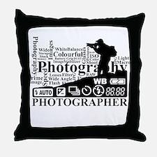 Unique Photographer Throw Pillow