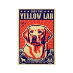 Obey the Yellow Lab! USA Magnets (10 pack)