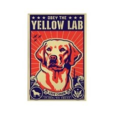 Obey the Yellow Lab! USA Magnet