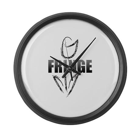 Fringe white tulip Large Wall Clock