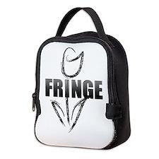 Fringe white tulip Neoprene Lunch Bag