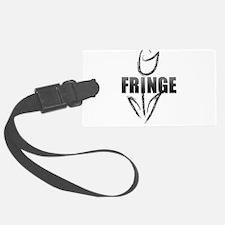 Fringe white tulip Luggage Tag