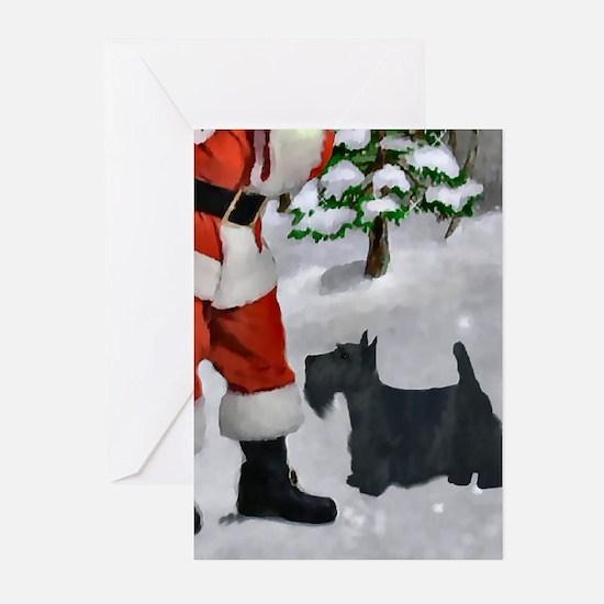 Scottish Terrier Christm Greeting Cards (Pk of 10)