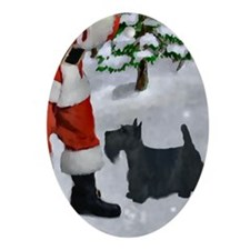 Scottish Terrier Ornament (Oval)