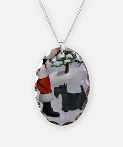 Scottish Terrier Christmas Necklace