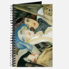 Three Young Ladies with a Dog Journal