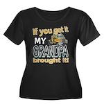 Grandpa Brought it Women's Plus Size Scoop Neck Da