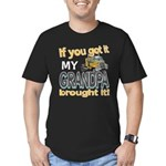 Grandpa Brought it Men's Fitted T-Shirt (dark)