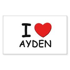 I love Ayden Rectangle Decal
