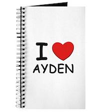 I love Ayden Journal
