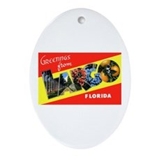 Largo Florida Greetings Oval Ornament