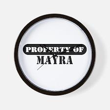 Property of Mayra Wall Clock