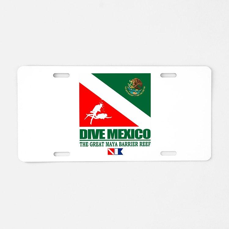 Dive Mexico Aluminum License Plate