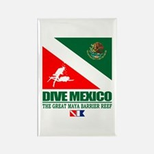 Dive Mexico Rectangle Magnet