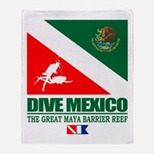 Dive Mexico Throw Blanket