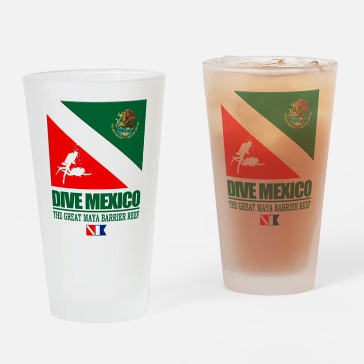 Dive Mexico Drinking Glass