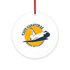 Cape Canaveral - Space Shuttle Design. Ornament (R