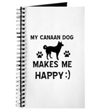 My Canaan dog makes me happy Journal