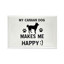 My Canaan dog makes me happy Rectangle Magnet (10