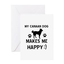 My Canaan dog makes me happy Greeting Card