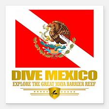 """Dive Mexico 2 Square Car Magnet 3"""" x 3"""""""
