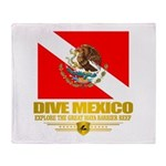 Dive Mexico 2 Throw Blanket