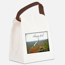 Chimney Rock with Text Canvas Lunch Bag