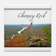 Chimney Rock with Text Tile Coaster