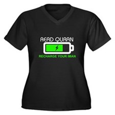Ramadan Women's Plus Size V-Neck Dark T-Shirt