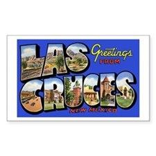 Las Cruces New Mexico Rectangle Decal