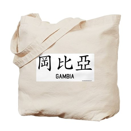 Gambia in Chinese Tote Bag