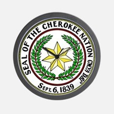 Seal of Cherokee Nation Wall Clock
