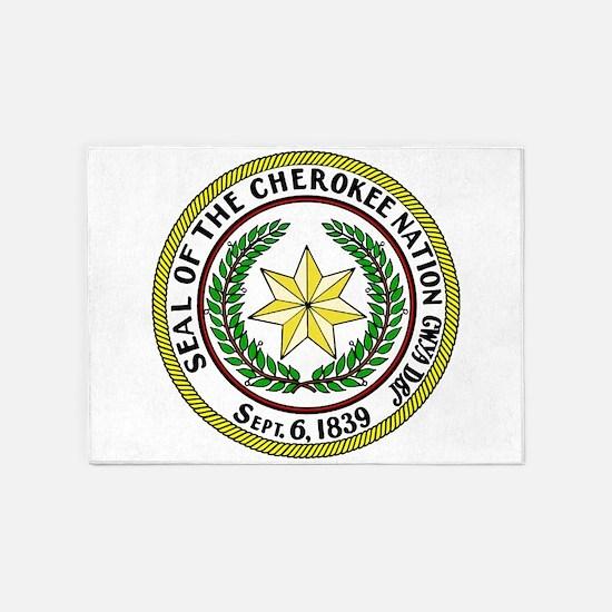 Seal of Cherokee Nation 5'x7'Area Rug