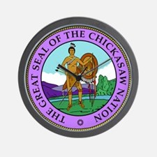 The Great Seal of the Chickasaw Nation Wall Clock