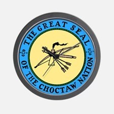 3-sealchoctaw1.png Wall Clock