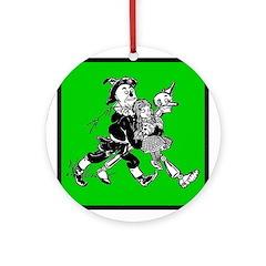 Scarecrow, Tin Man & Dorothy Ornament (Round)