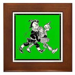 Scarecrow, Tin Man & Dorothy Framed Tile