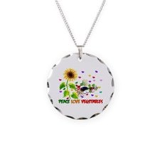 Peace Love Vegetables Necklace